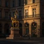 statue jeanne d'arc rue de rivoli