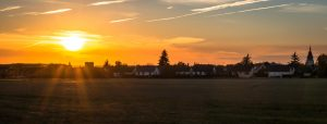 Illiers Combray Sunset