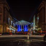 night photography, paris landmarks